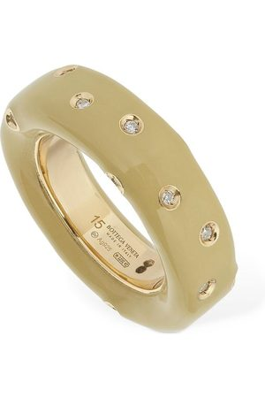 Bottega Veneta | Mujer Band Crystal Ring /blanco 13