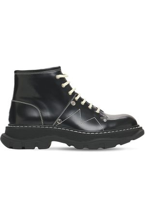 Alexander McQueen Mujer Botas - | Mujer 40mm Tread Brushed Leather Combat Boots 35