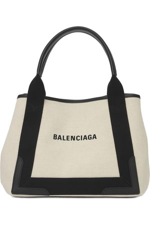 Balenciaga | Mujer Sm Navy Cabas Cotton Canvas Bag /negro Unique