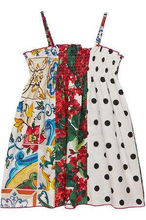 Dolce & Gabbana | Niña Vestido De Popelina De Algodón Patchwork 8a