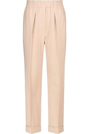 Brunello Cucinelli Pantalones rectos plisados