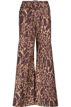 ALEXANDRA MIRO Exclusivo en Mytheresa - pantalones Claudia con estampado de leopardo