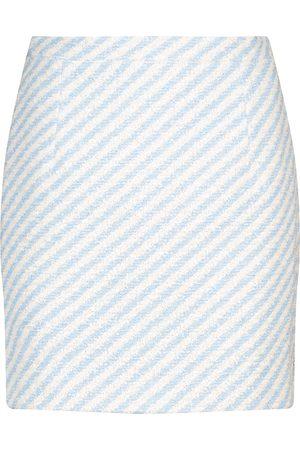 Alessandra Rich Minifalda de tweed de rayas