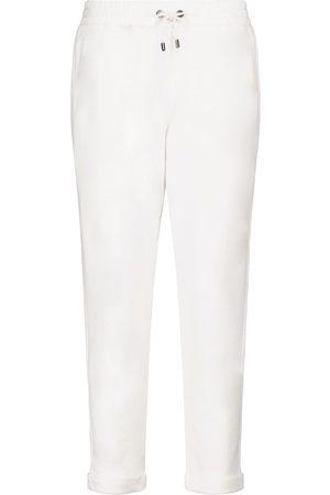 Brunello Cucinelli Pantalones de chándal de punto fino