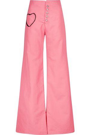 RODARTE Pantalones anchos de sarga de tiro alto