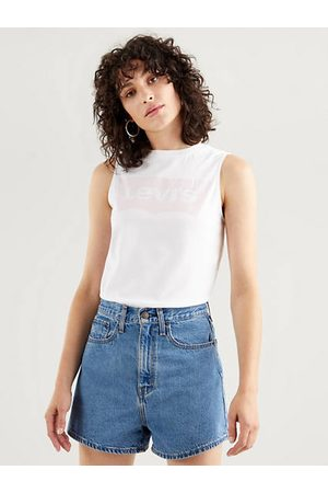 Levi's Mujer Tops - Band Graphic Tank Top / White