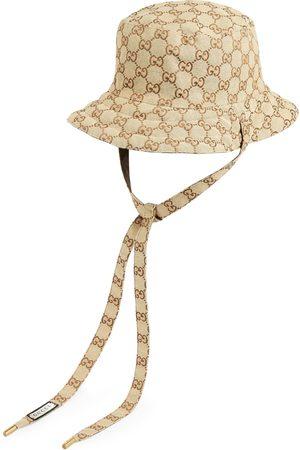 Gucci Mujer Sombreros - Sombrero reversible en lona con GG y nylon