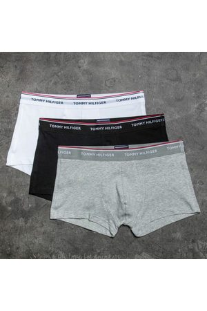 Tommy Hilfiger Hombre Calzoncillos y Boxers - 3 Pack Low Rise Trunks Black/ White/ Grey Heather
