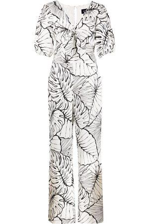 Marchesa Notte Mujer Monos largos - Mono largo con estampado de hojas