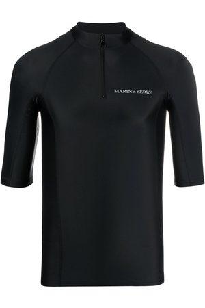 Marine Serre Hombre Camisetas - Top de compresión con estampado gráfico