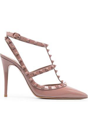 VALENTINO GARAVANI Mujer Tacón - Zapatos Rockstud con tacón de 100mm