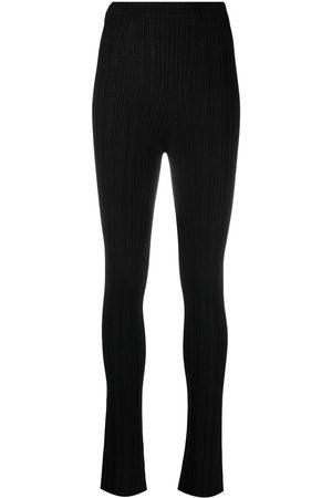 AMBUSH Pantalones de canalé de talle alto