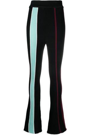 AMBUSH Mujer Pantalones acampanados - Pantalones de canalé a rayas verticales