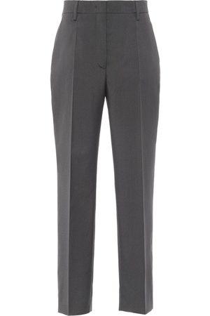 Prada Pantalones rectos de talle alto