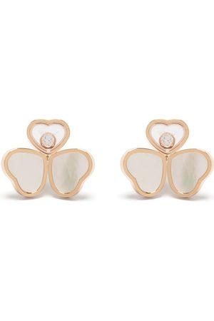 Chopard Pendientes Happy Hearts Wings en oro de 18kt con diamante y madreperla
