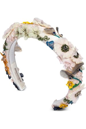 Jennifer Behr Diadema Meadow con apliques florales