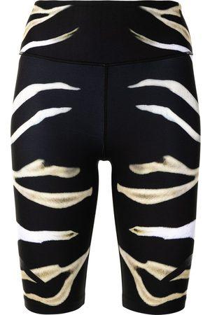 Camilla Pantalones cortos de deporte biker con estampado de cebra