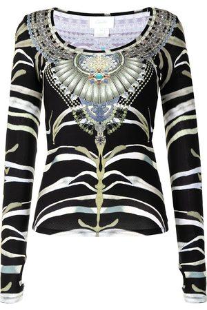 Camilla Mujer Tops - Top con motivo de cebra y joyas
