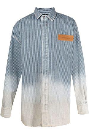 Palm Angels Camisa vaquera con efecto lavado