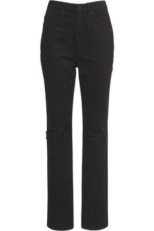 Alexander Wang | Mujer Jeans De Denim Desgastado Con Cintura Alta 24