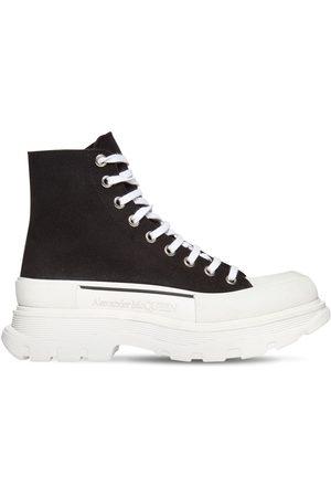 Alexander McQueen Hombre Zapatillas deportivas - | Hombre Sneakers Altas De Lona De Algodón 50mm /blanco 39