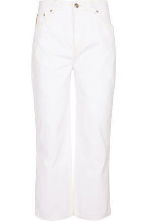 Ganni Mujer Cintura alta - Jeans cropped de tiro alto