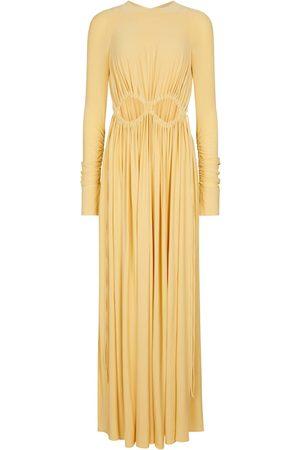Victoria Beckham Mujer Midi - Vestido largo con frunces