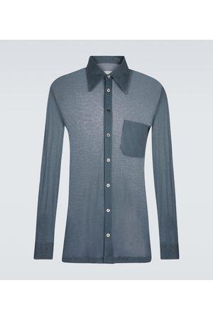 Maison Margiela Hombre Camisas - Camisa de algodón y seda
