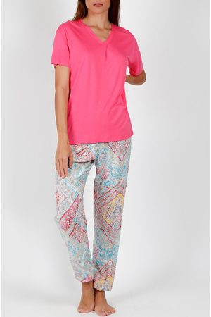 Admas Pantalones pijama camiseta Colores Diamantes para mujer
