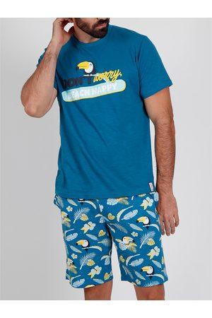 Admas For Men Pantalones cortos de pijama camiseta Tucán Admas para hombre