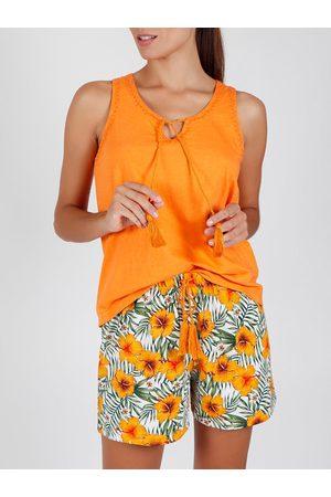 Admas Pantalones cortos Pyjama tank top Hawaii para mujer