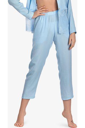 Ajour 7-8 Olvídame-no-pantalones de pijama celeste para mujer