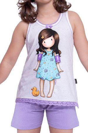 Admas Camiseta corta del pijama Pato Pequeño Santoro marfil para mujer