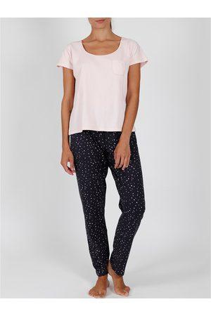 Admas Pantalones pijama camiseta de interior Shine Stars para mujer
