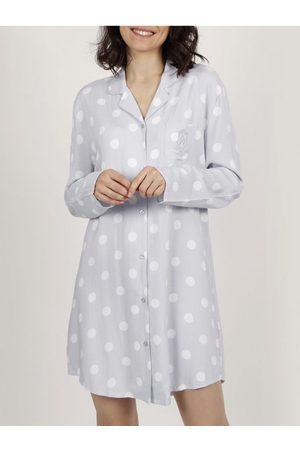 Admas El clásico camisón de manga larga Dots para mujer