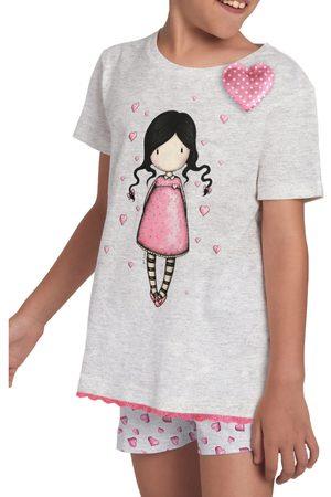 Admas Camiseta corta de chica pijama Awareness Santoro para niña