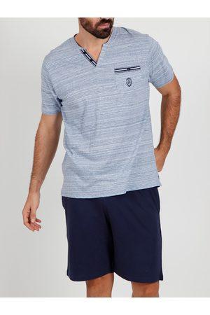 Admas For Men Camiseta corta de pijama Light Stripes Admas para hombre