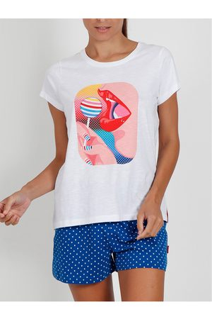 Admas Camiseta corta de pijama Lollipop Santoro para mujer