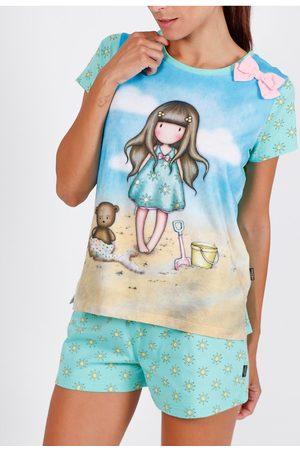 Admas Camiseta de pijama corto Hola Verano Santoro para mujer