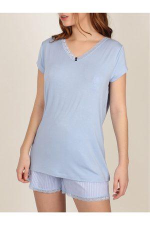 Admas Fresco y suave Camiseta de pijamas cortos para mujer