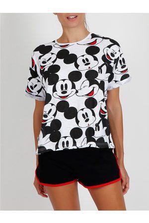 Admas Camiseta de pijamas cortos Mickey Heads Disney para mujer