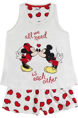 Admas Chica pijama camiseta corta Love Mouse Disney marfil para niña