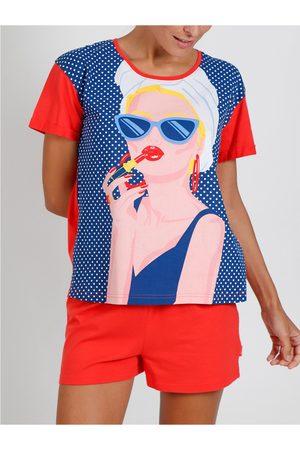 Admas Camiseta corta de pijama Lady In Red Santoro para mujer