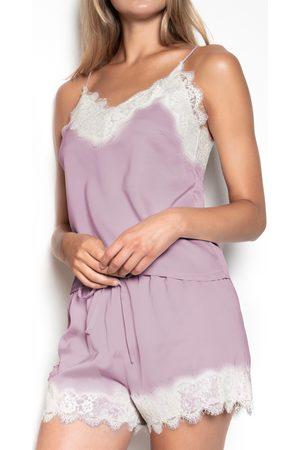 Admas Pijamas Suave Crepe púrpura para mujer