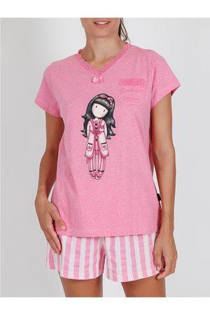 Admas Camiseta de pijamas Goodnight Gorjuss Santoro para mujer