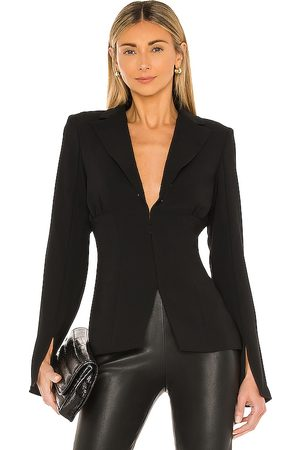 Amanda Uprichard Dovima blazer en color talla L en - Black. Talla L (también en XS, S, M).