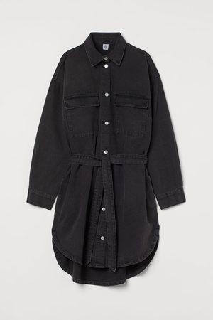 H&M Mujer Vaqueros - Vestido camisero en denim