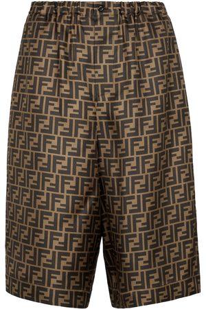 Fendi Shorts FF de seda