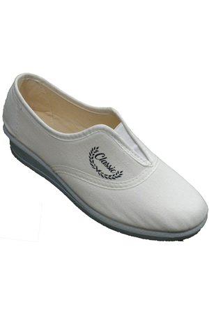 Aguas Nuevas Pantuflas Zapatillas cerradas mujer elástico en el para mujer