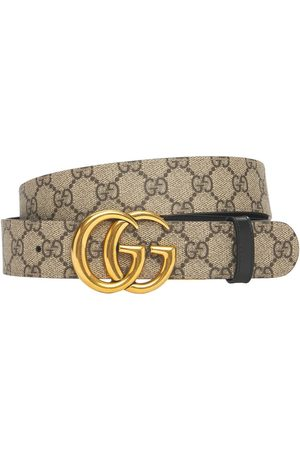 Gucci | Mujer 3.7cm Gg Marmont Reversible Canvas Belt /black 70